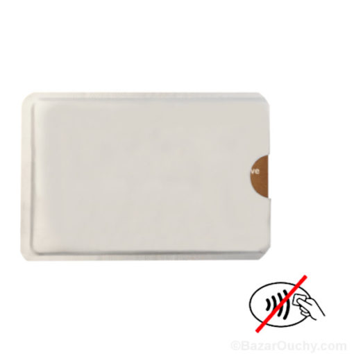 fourre de protection carte credit sans contact onde rfid