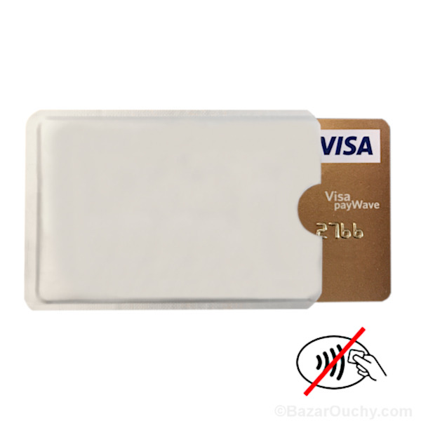 protection carte sans contact RFID protective cover for contactless credit card   BazarOuchy.com