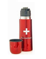 Bouteille thermos croix suisse