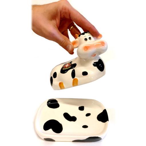 Beurrier en forme de vache suisse