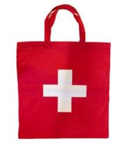 Sac avec croix suisse en tissu