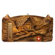 Applique murale décorative suisse avec thermomètre