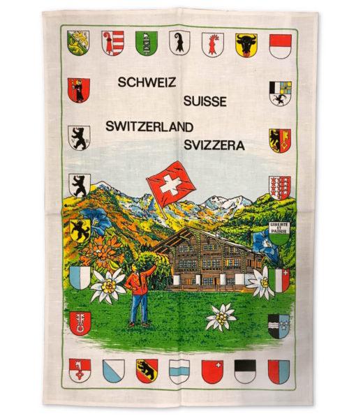 Linge torchon de cuisine mi fil écusson suisse