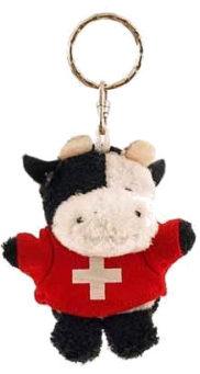 Vache peluche suisse porte clé
