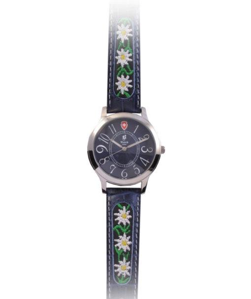 Montre suisse folklorique avec fleur bracelet