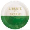 Assiette drapeau Vaud