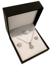 Boucle d'oreille edelweiss argent