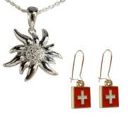 Colliers et boucles d'oreille suisse