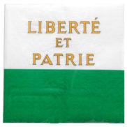 Serviette drapeau canton Vaud