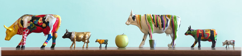Vache décorative colorée CowParade