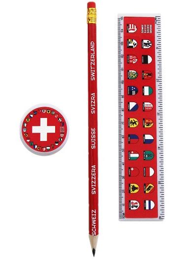 Set école crayon suisse règle taille crayon
