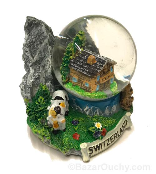 Boule à neige suisse chalet
