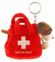 Porte-clé chien Saint-Bernard