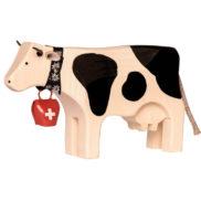 Vache en bois suisse jouet