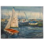 Peinture à l'huile - Port d'Ouchy