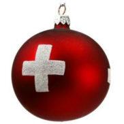 Boule de Noel croix suisse