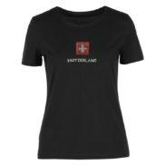 T shirt croix suisse dame