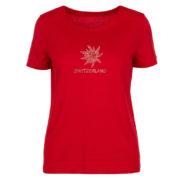 T shirt edelweiss strass dame