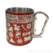 Tasse avec mousqueton en métal
