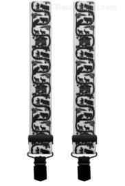 Bretelle poya decoupage suisse noir et blanc