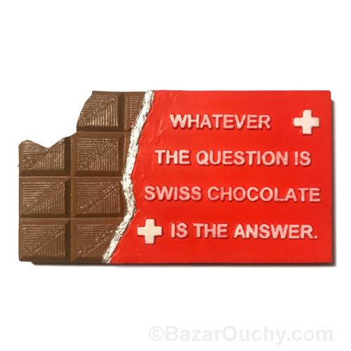 Magnet aimant chocolat suisse
