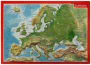 Carte postale relief europe