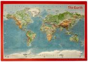 Carte postale relief monde