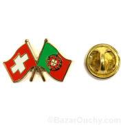 pins suisse portugal drapeau