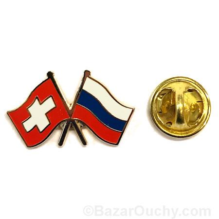 pins suisse russe drapeau