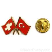 pins suisse turquie drapeau