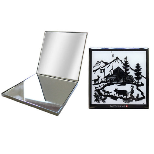 Miroir de poche suisse poya découpage