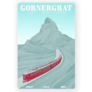 Plaque en métal Suisse Gornergrat