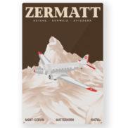 Plaque en métal Suisse Zermatt