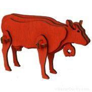 Vache en bois à assembler monter construire