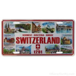 Plaque voiture métal suisse