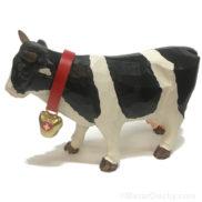 Vache en bois suisse taillé à la main