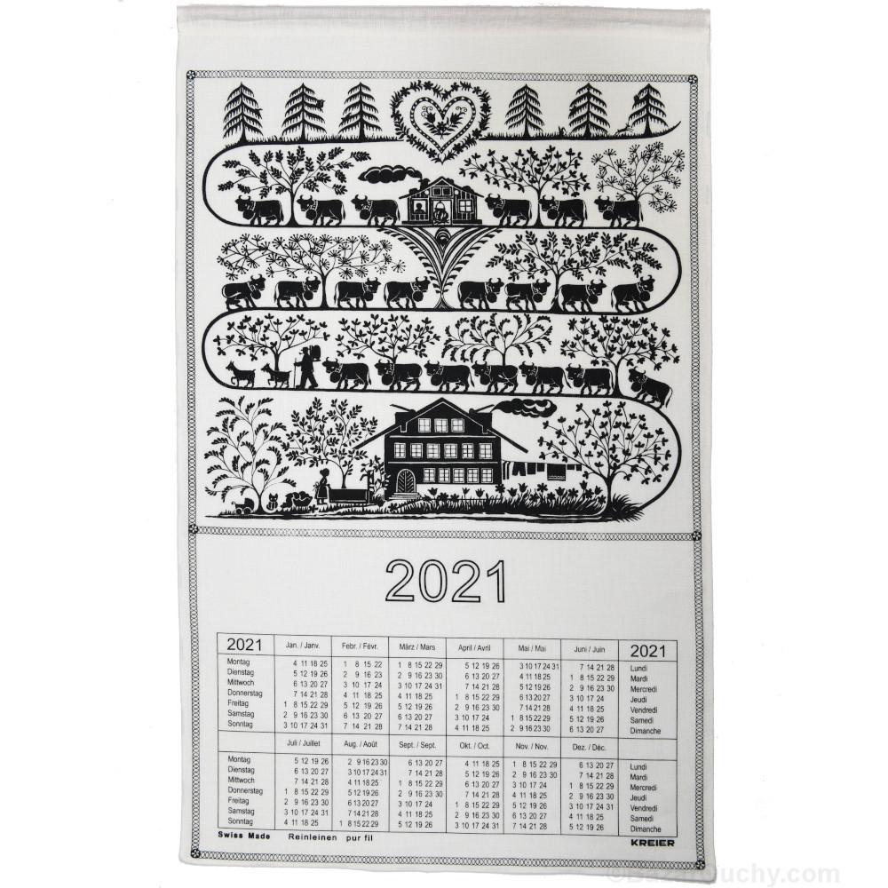 Calendario svizzero del tessuto   2021 (senza stick)   BazarOuchy.com