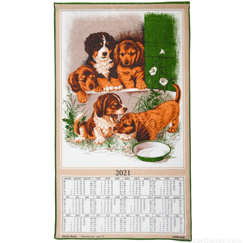 Calendario svizzero in tessuto   2021 (senza stick)   BazarOuchy.com