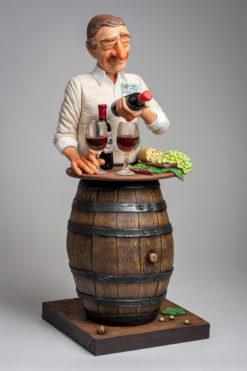 Statue Figure drole Amateur de vin FO84547