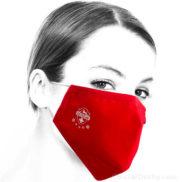 Masque de protection croix suisse rouge en tissu
