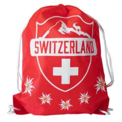 sac à dos ficelle croix suisse