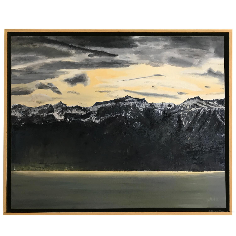 Tableau Peinture Suisse Lac Leman Bazarouchy Com