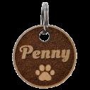 Médaille chien bois