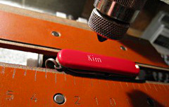 Swiss army knife engraving